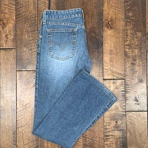 Super Low Stretch Bootcut Levi Jeans Size 5 Junior